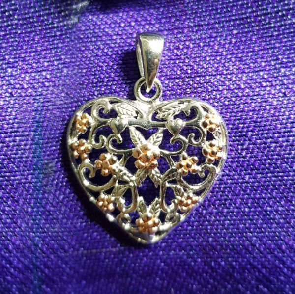 Picture of Pendant Silver Gold  Heart
