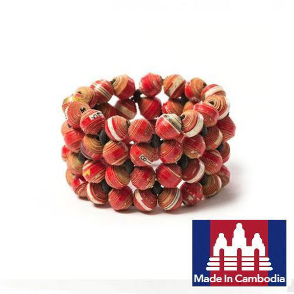 Picture of Cuffed Paper Beads Bracelet