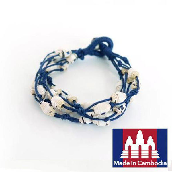 Picture of Cool Line Paper Bracelet (Blue)