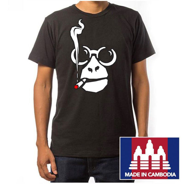 Picture of Khana Monkey Logo T-Shirt, Black, Size Large
