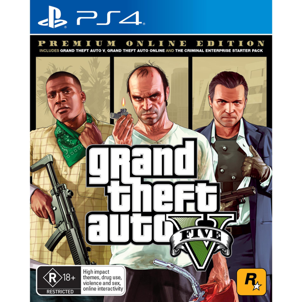 Picture of Grand Theft Auto V: Premium Online Edition- PS4