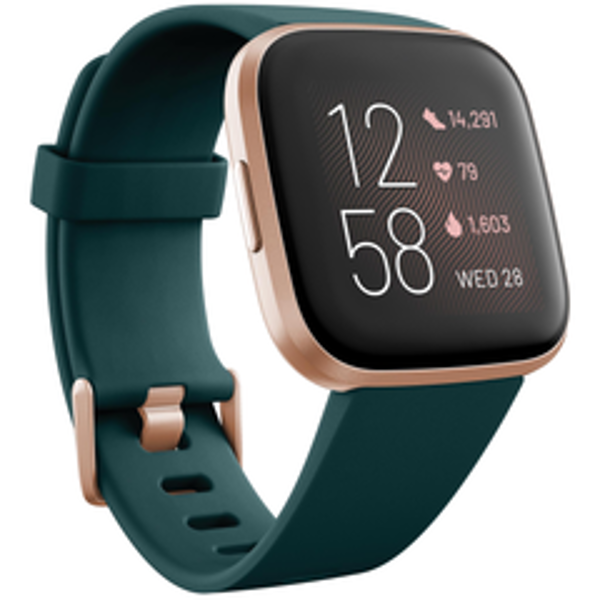 Picture of Fitbit Versa 2 Smart Fitness Watch (Emerald/Copper Rose)