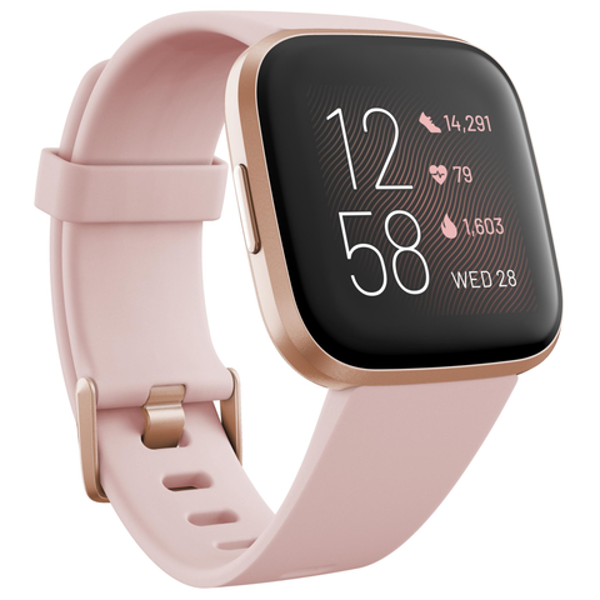Picture of Fitbit Versa 2 Smart Fitness Watch(Petal/Copper Rose)