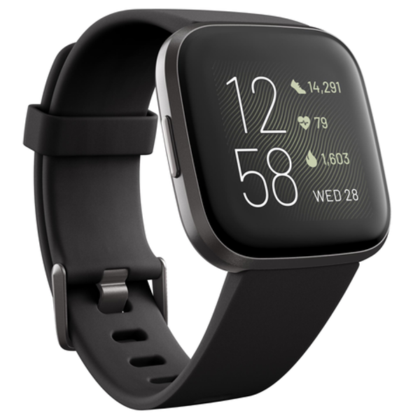Picture of Fitbit Versa 2 Smart Fitness Watch (Black/Carbon)
