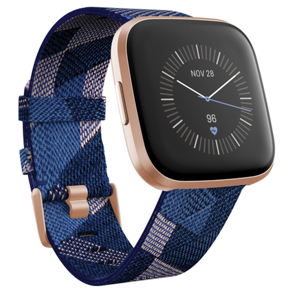 Picture of Fitbit Versa 2 Smart Fitness Watch Special Edition (Navy & Pink Woven)
