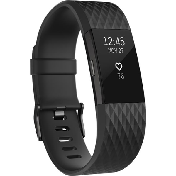 Picture of Fitbit Charge 2 Special Edition (Gunmetal Black/Small)